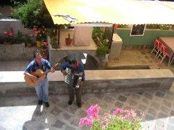 Músicos en patio de la Quinta Eulalia